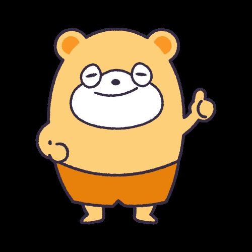 キャラクター素材:くまぽ2