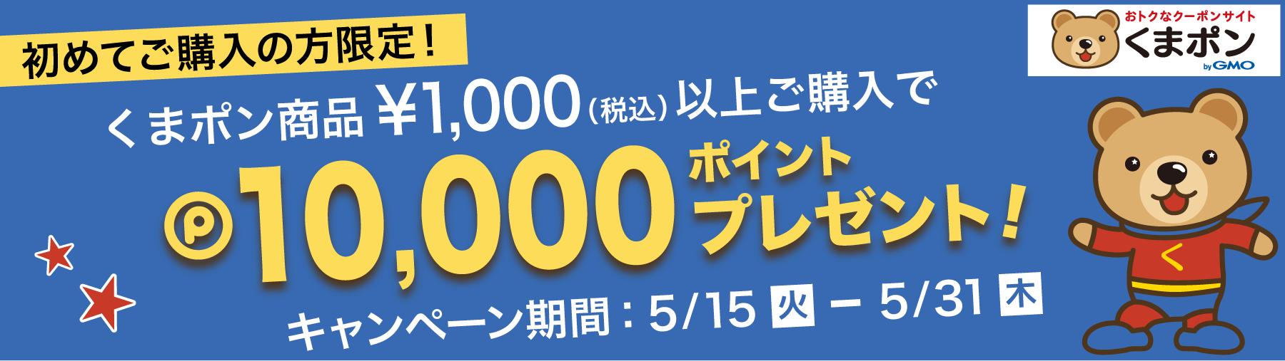くまポン×ポイントタウン 500円分相当ポイントプレゼントキャンペーン